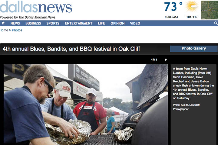 Dallas Morning News: Davis-Hawn at Blues Bandits and BBQ