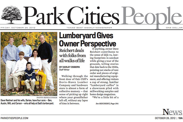 Park Cities People features Davis-Hawn
